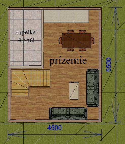 Projekt chaty 25m2